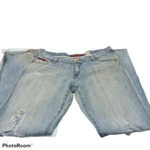 Baby Phat Light Wash Distressed Jeans. Sz. 11